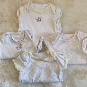 Baby Boden-set of 4 onesies.3/6 months